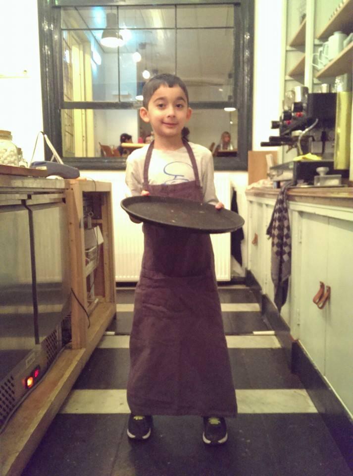 This sweet little boy Hamza thinks we deserve another change, pleaaase :).  →Start again .