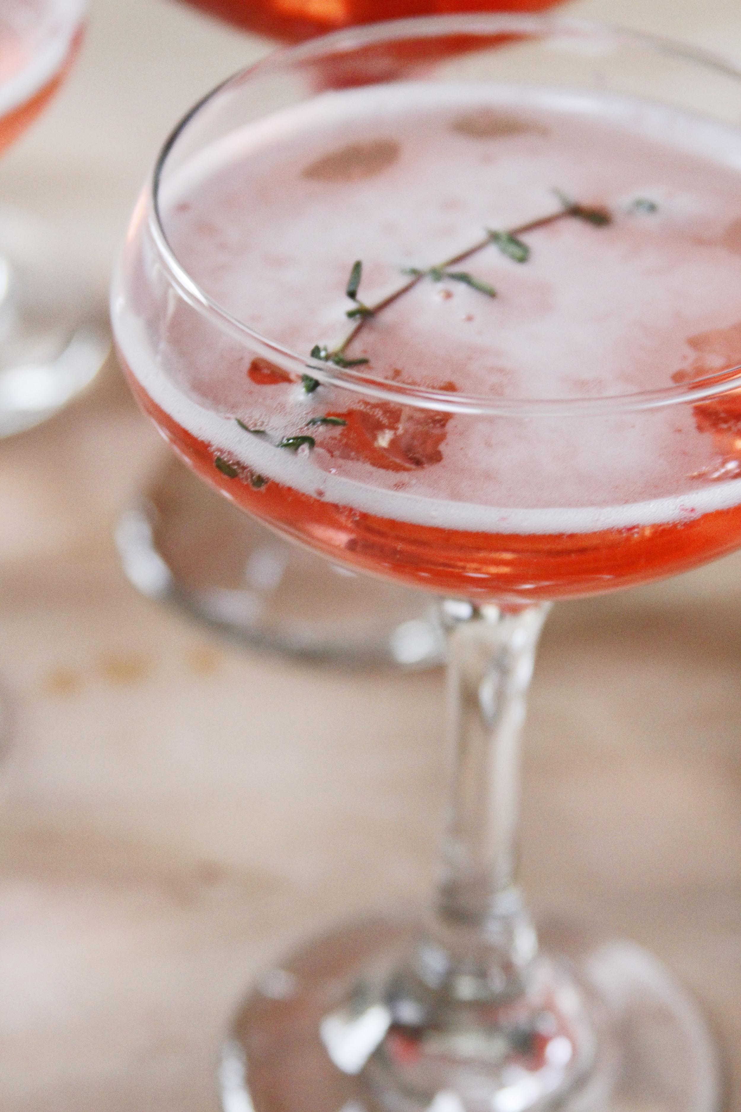 Cranberry Thyme Cocktail via Print (Em) Shop