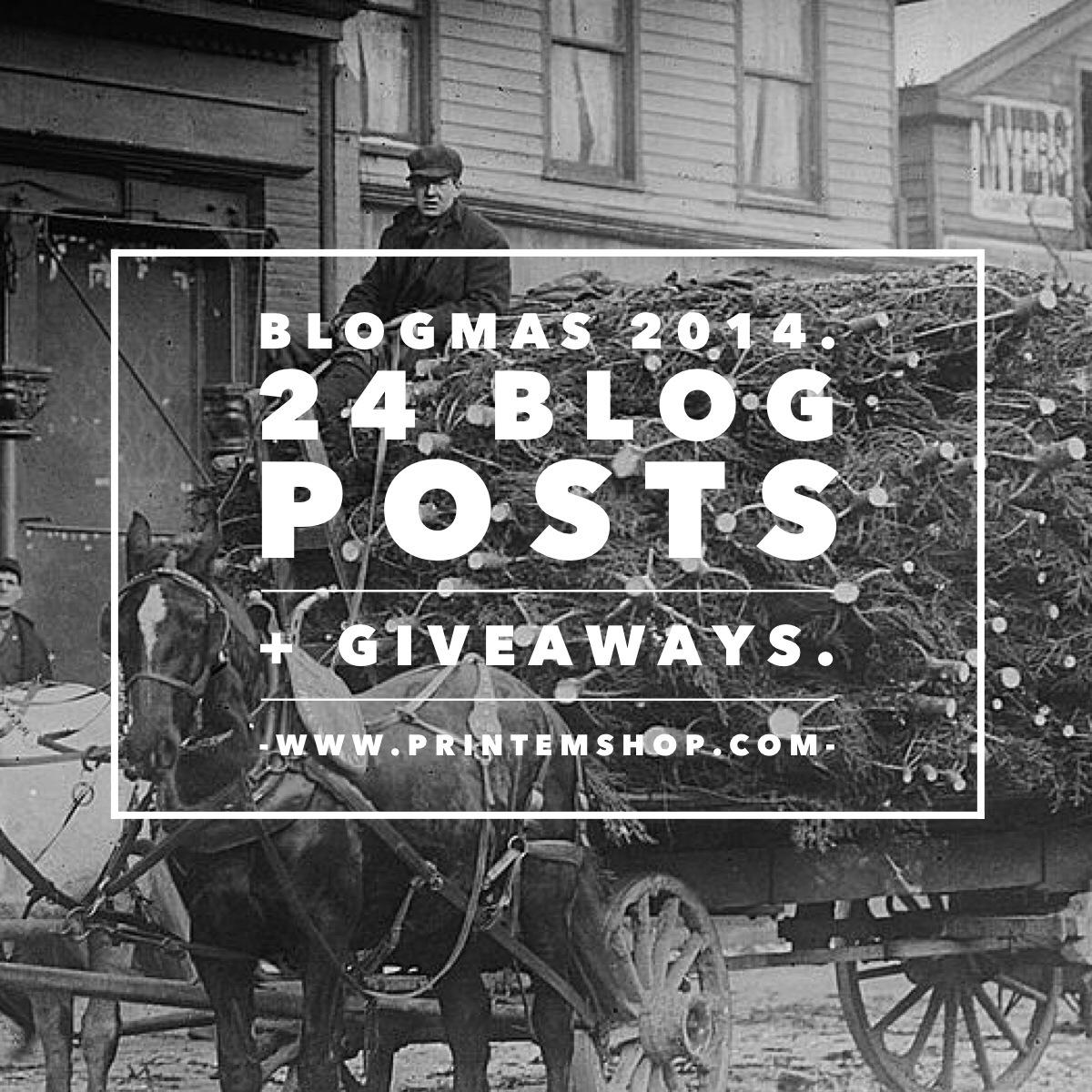 Blogmas via Print (Em) Shop