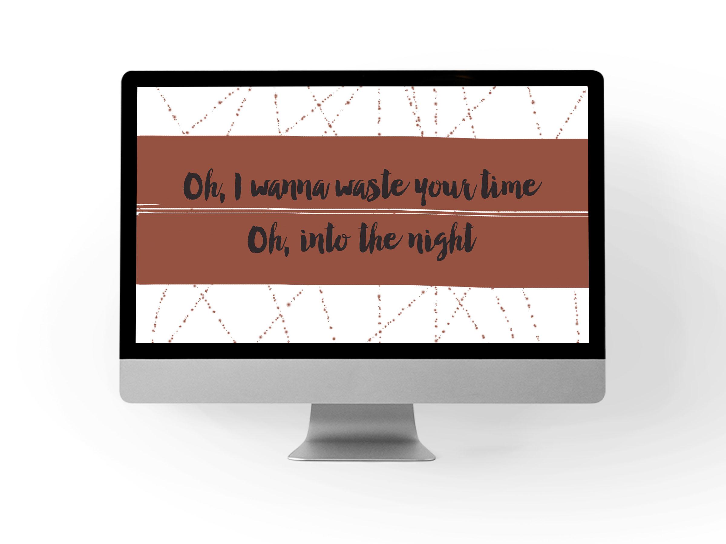 Shakey Graves Desktop Background 2 // Print (Em) Shop