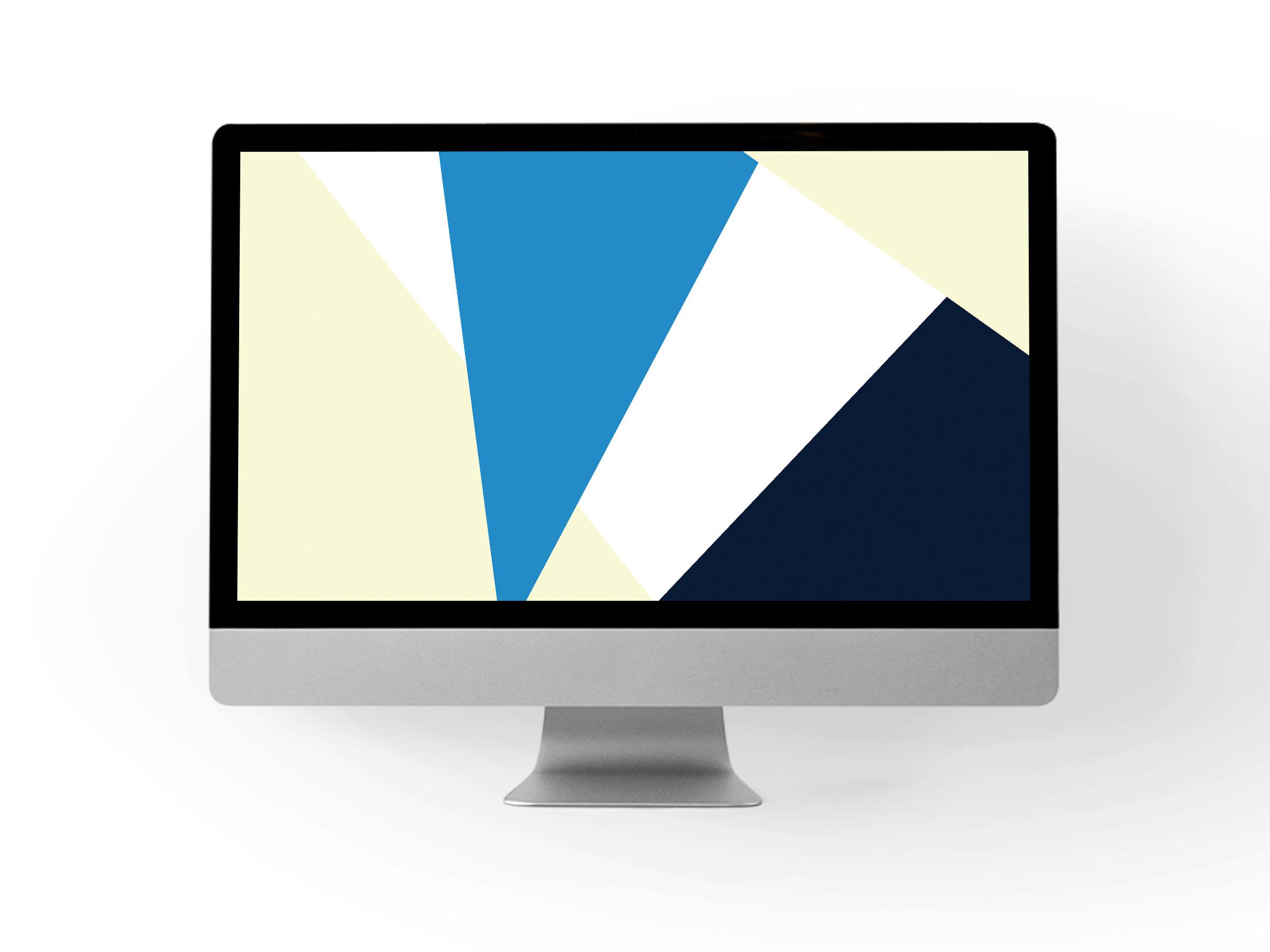 Blue + yellow desktop backdrop // Print (Em) Shop