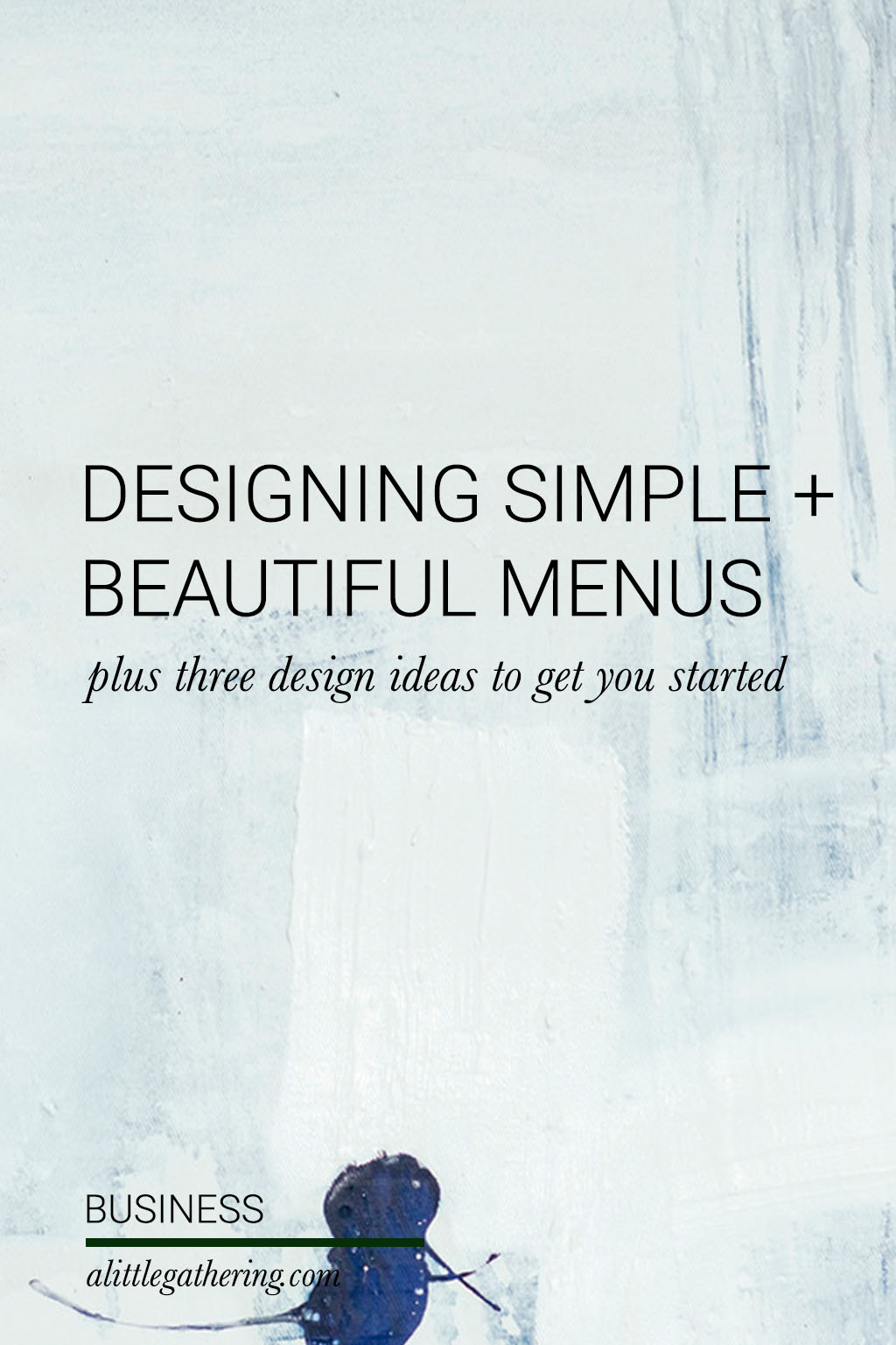 flexible menu design