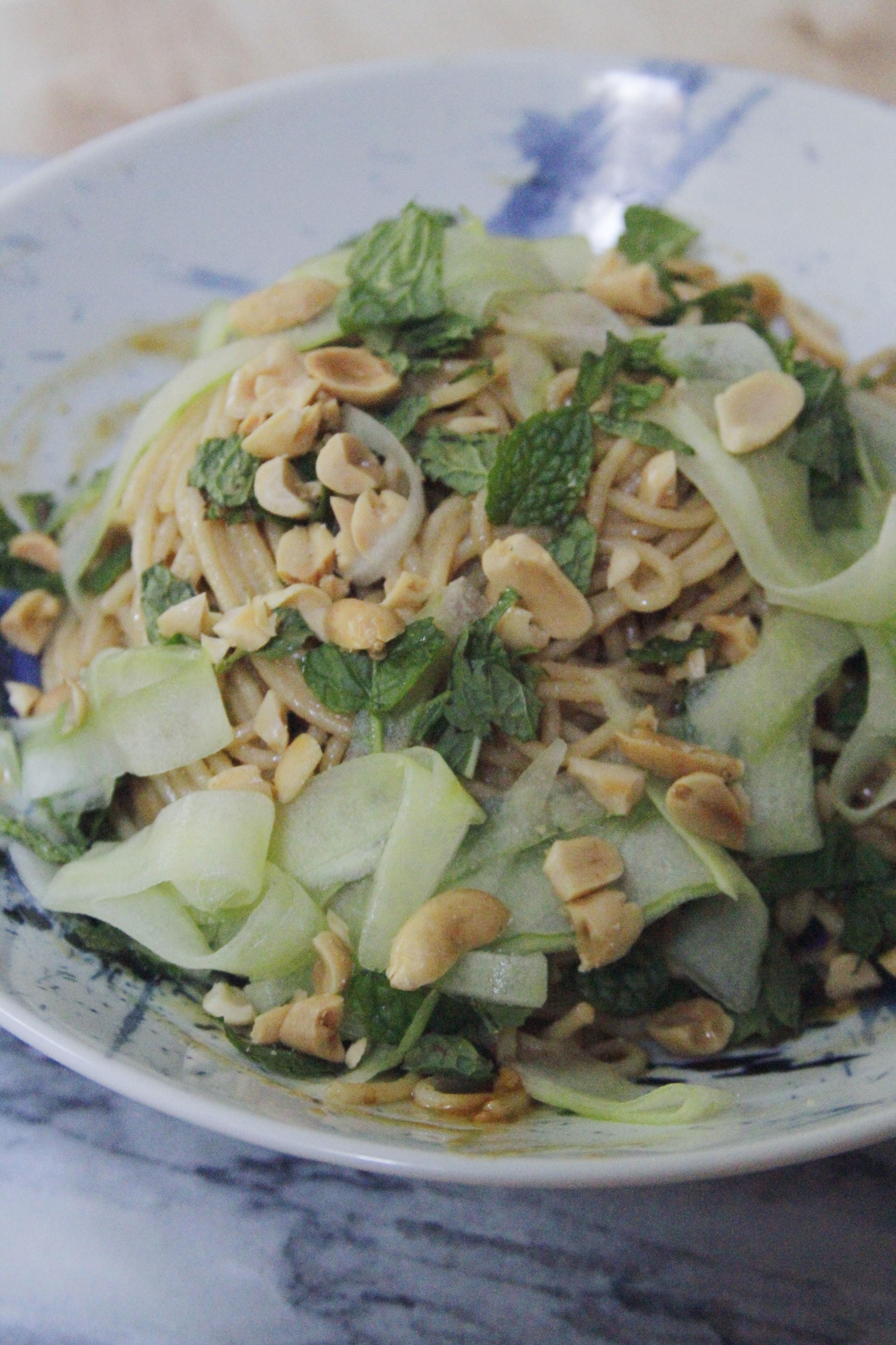 cucumber peanut noodles // a little gathering