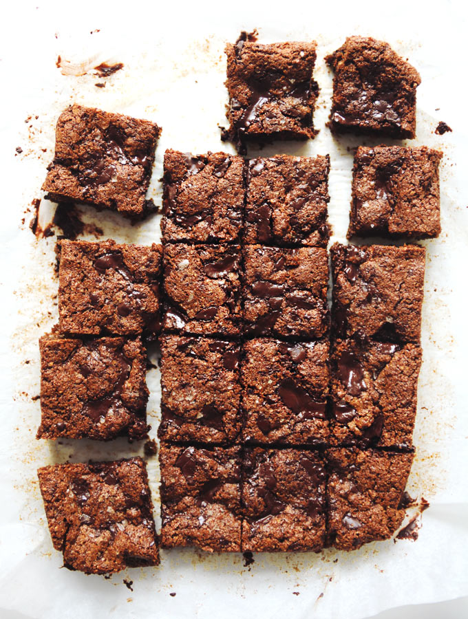 CHOCOLATE CHUNK NUT BUTTER BLONDIES