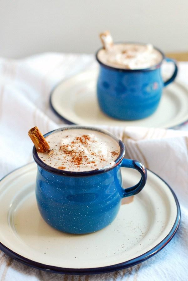 spicy maple cinnamon hot chocolate