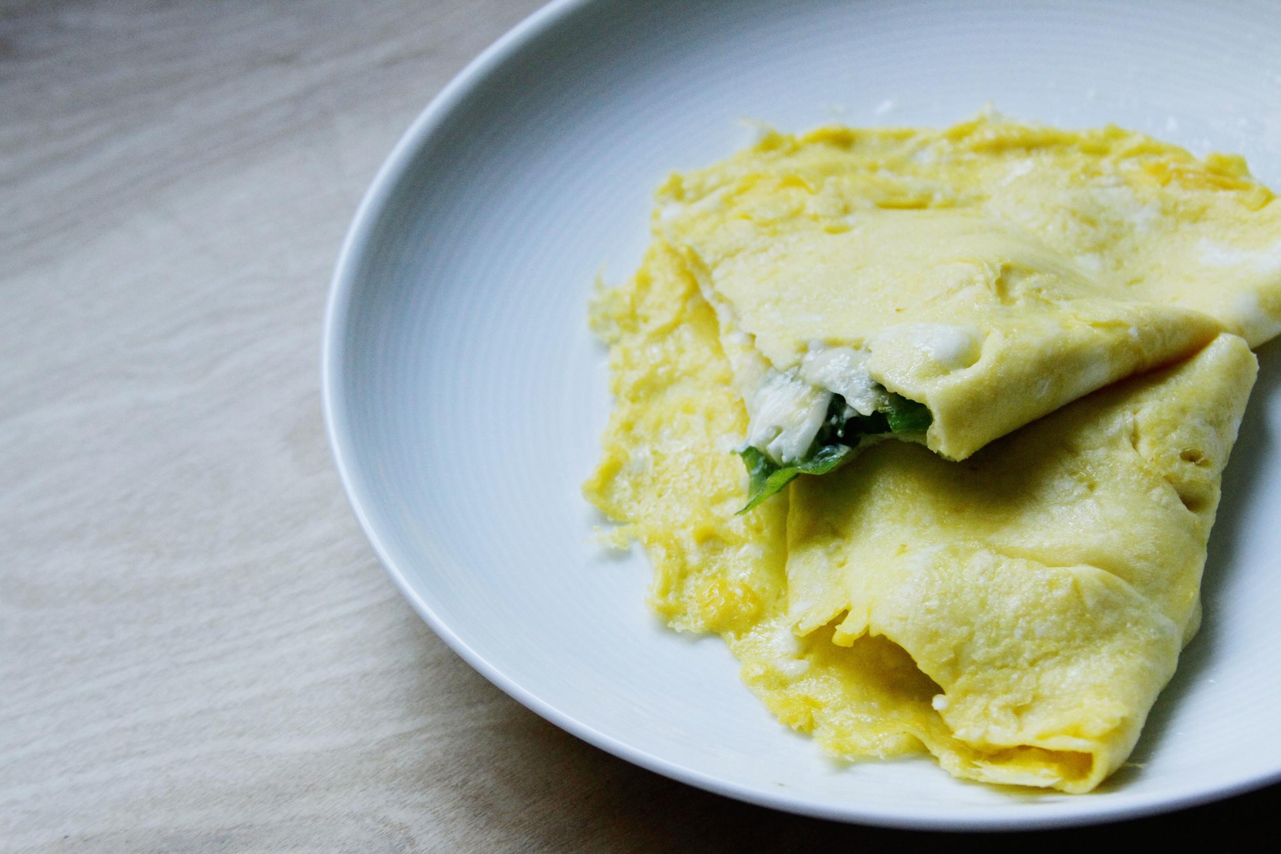 scallion omelet