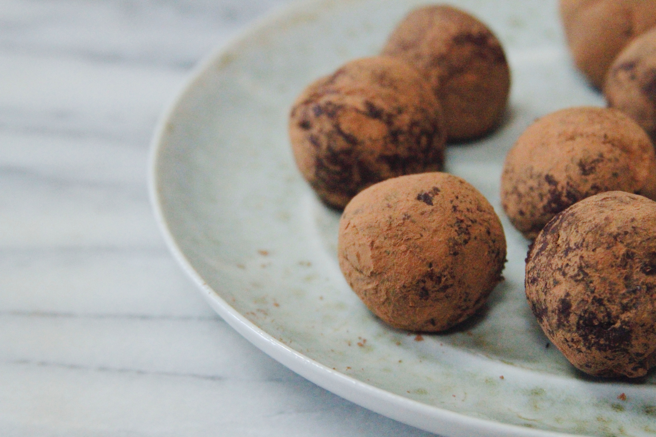 chocolate raspberry truffles // a little gathering