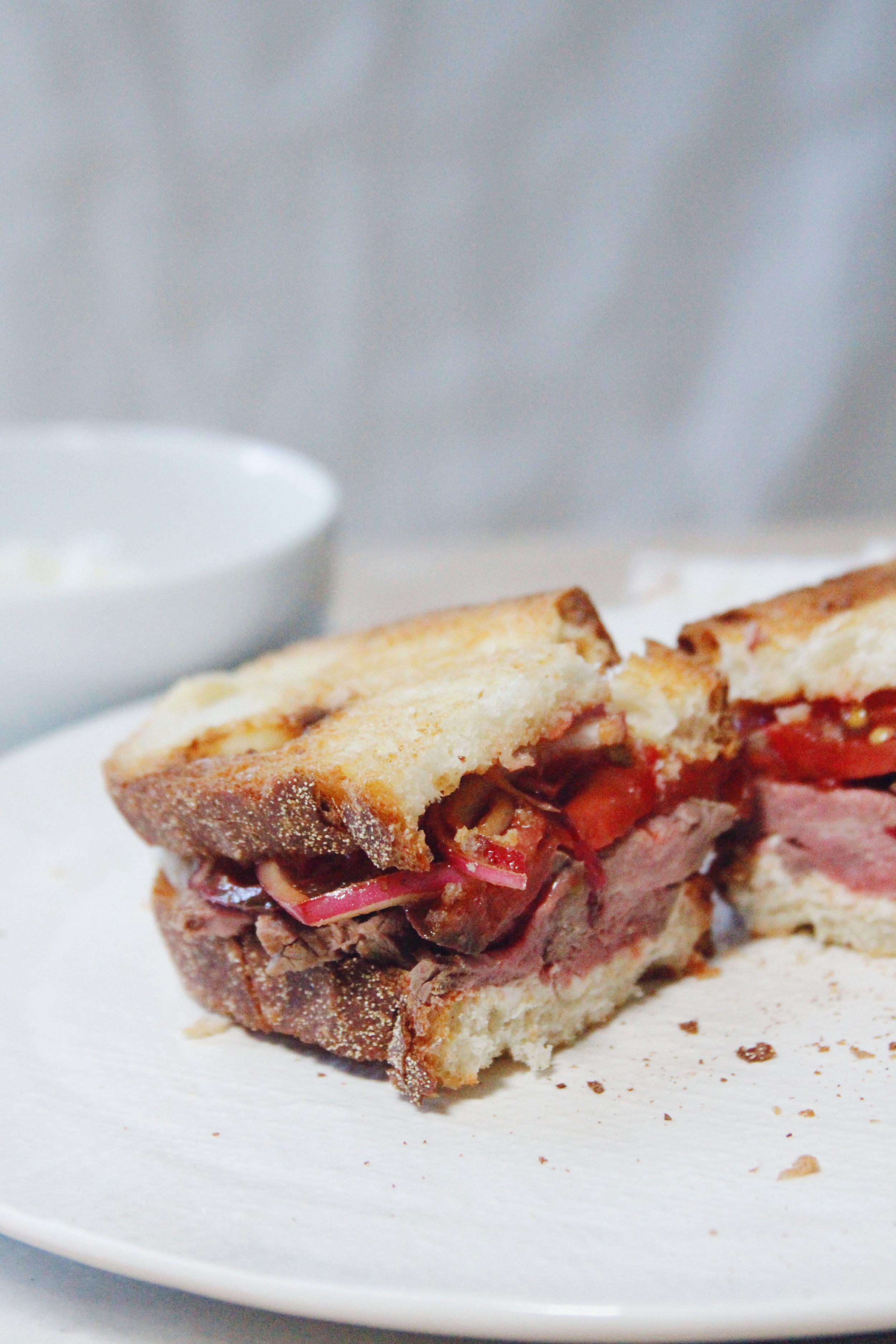 leftover steakhouse sandwich // a little gathering