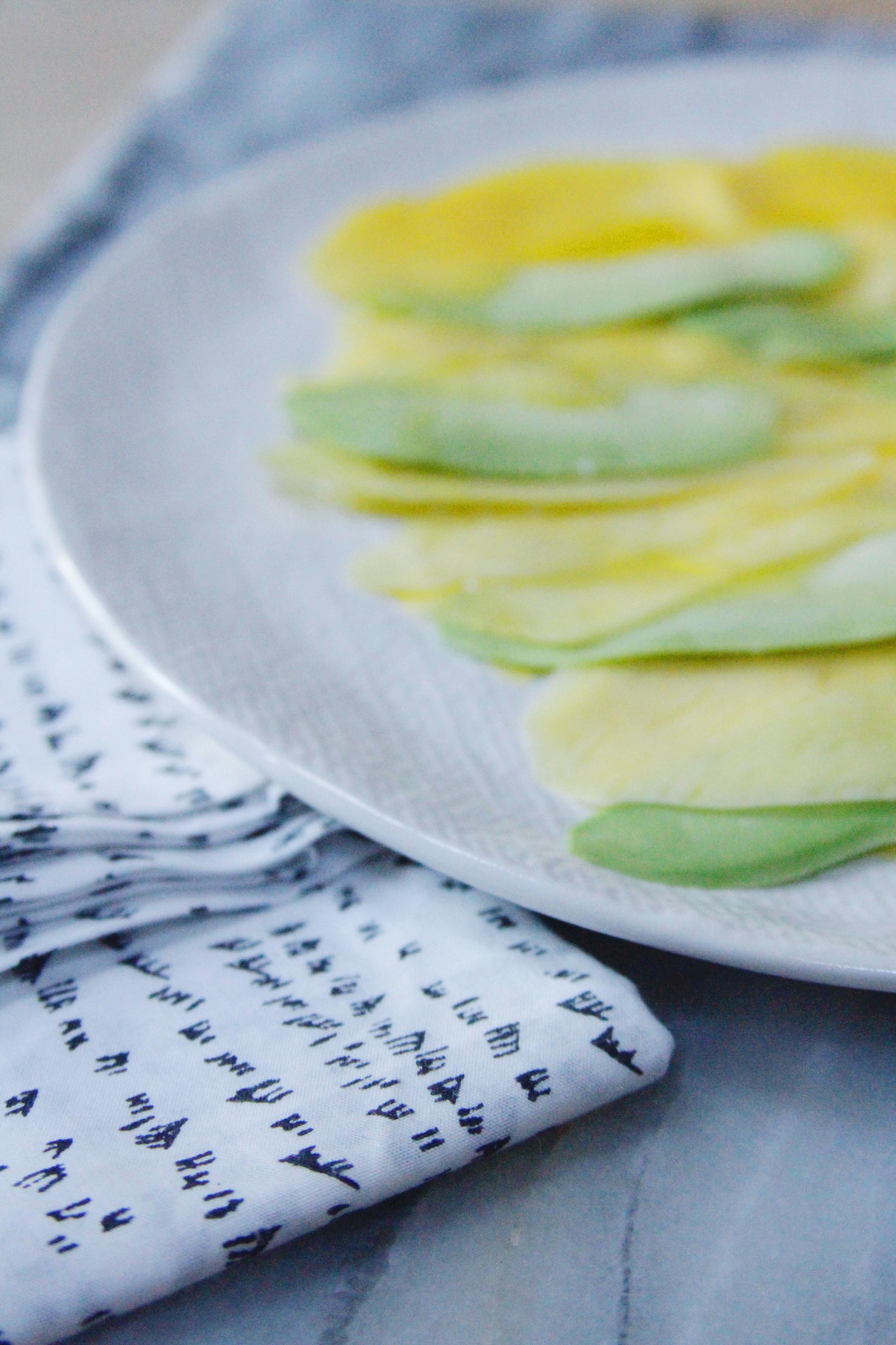 avocado and mango carpaccio