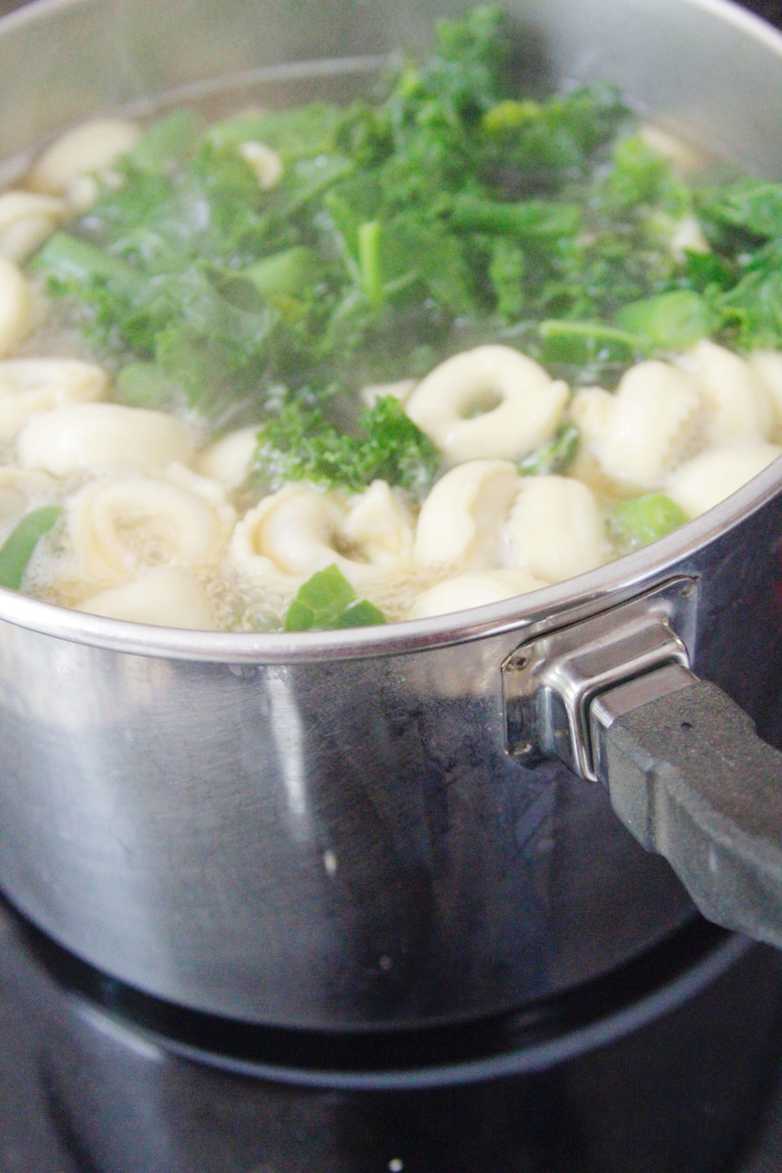 Beef tortelini soup