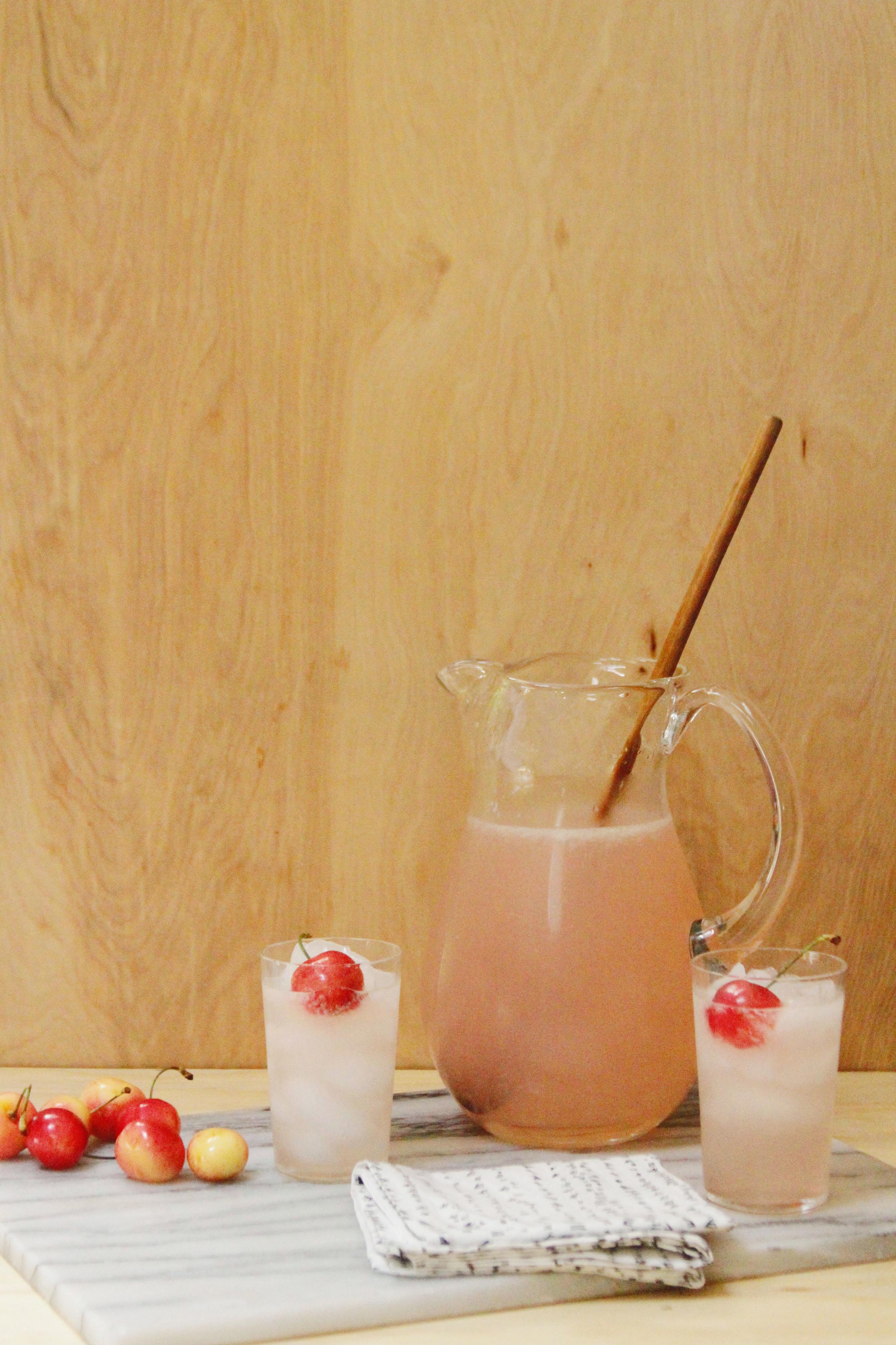 Spiked pink lemonade