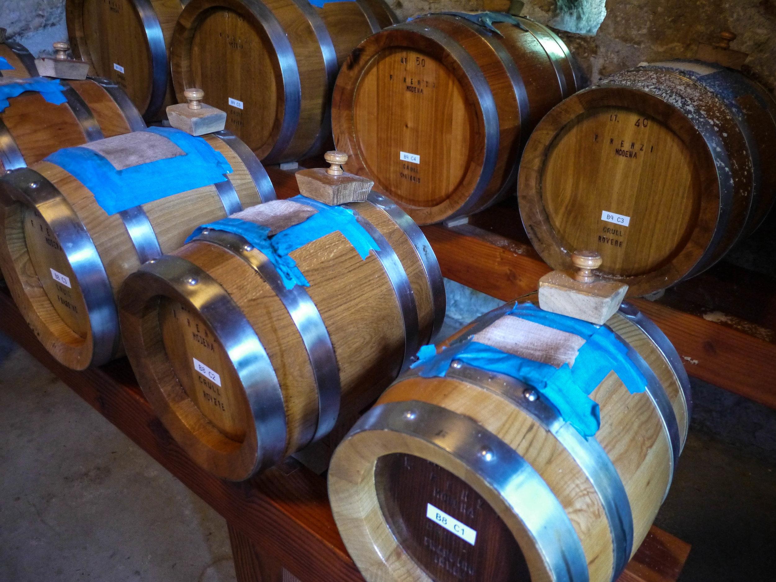 and barrels of balsamic vinegar.