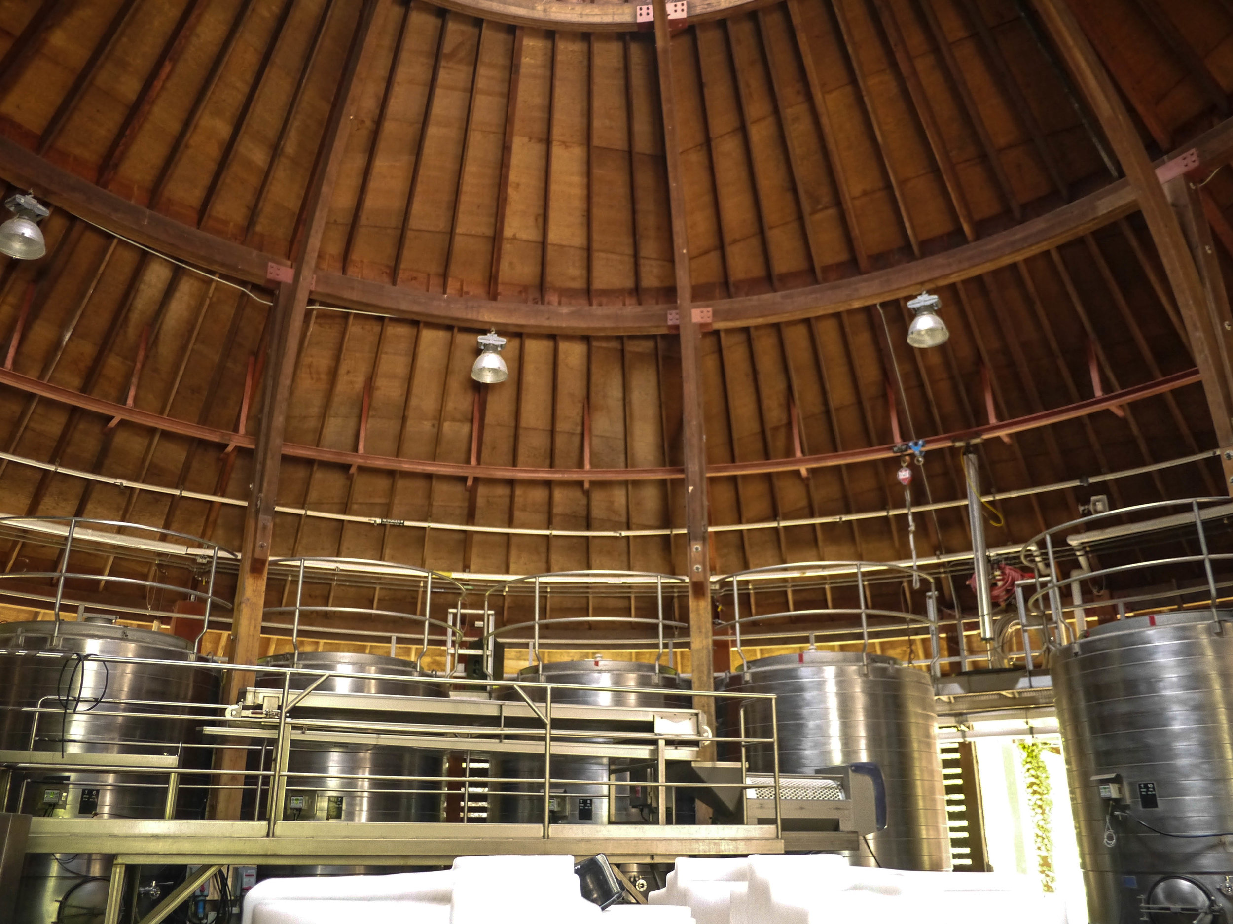 And their amazing space where they produce the wines.