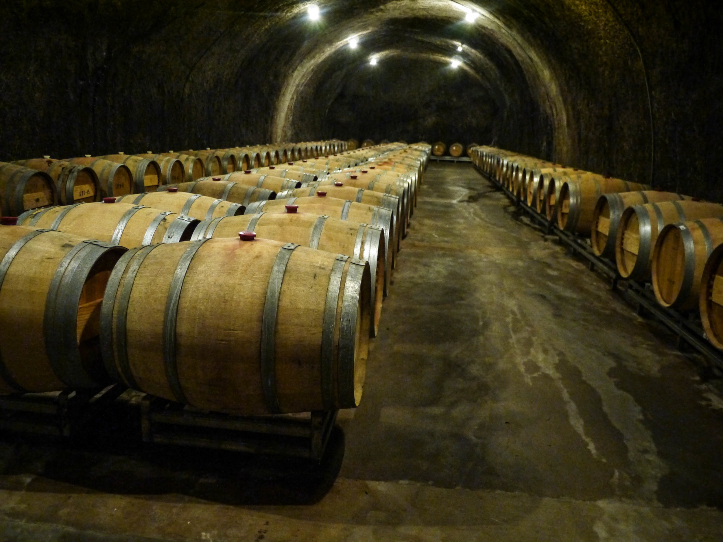 Their really really cool wine cave.