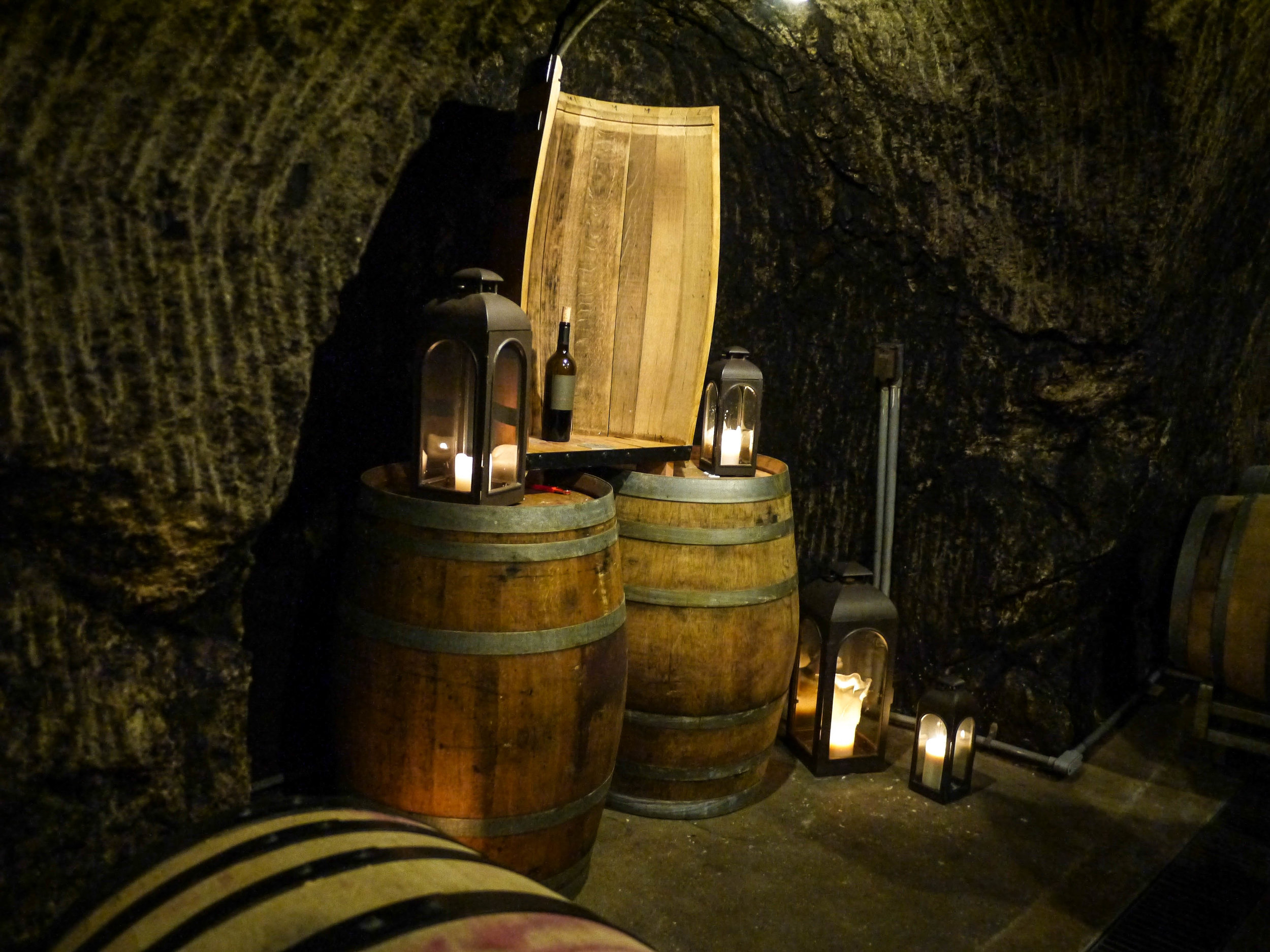 And red in their wine cave.