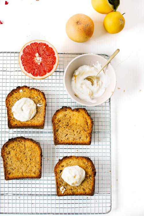 Grapefruit and earl grey bread