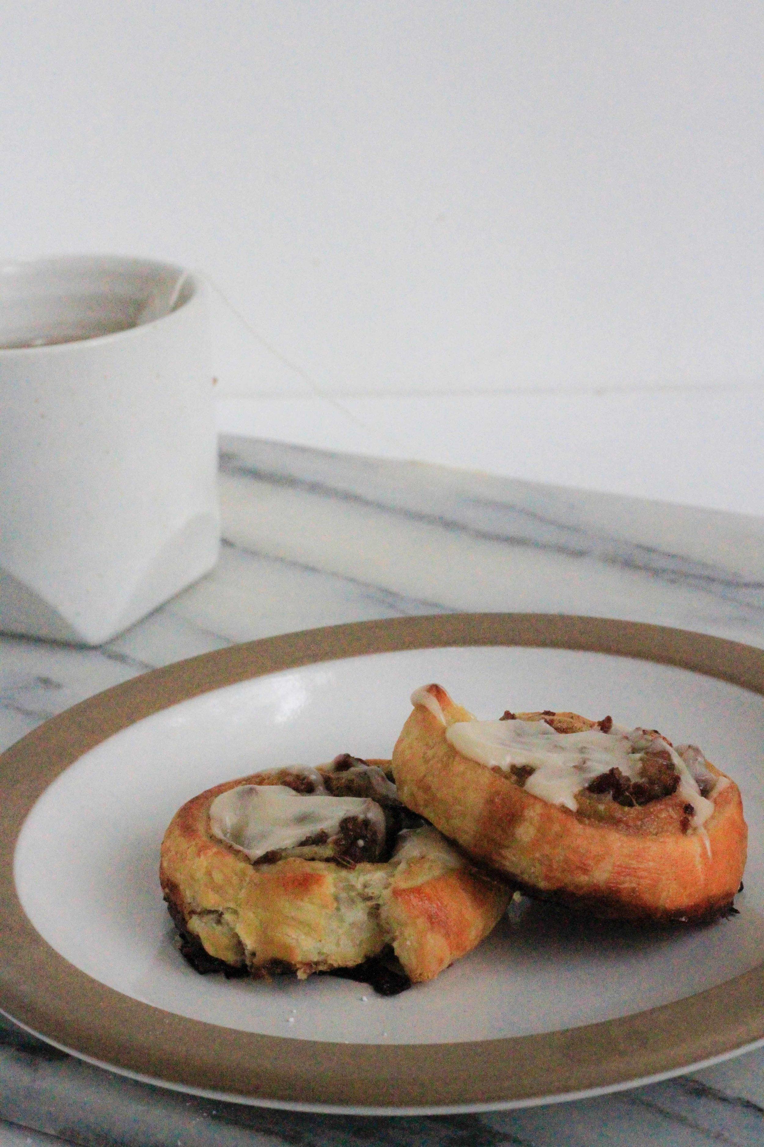 Maple sausage breakfast rolls