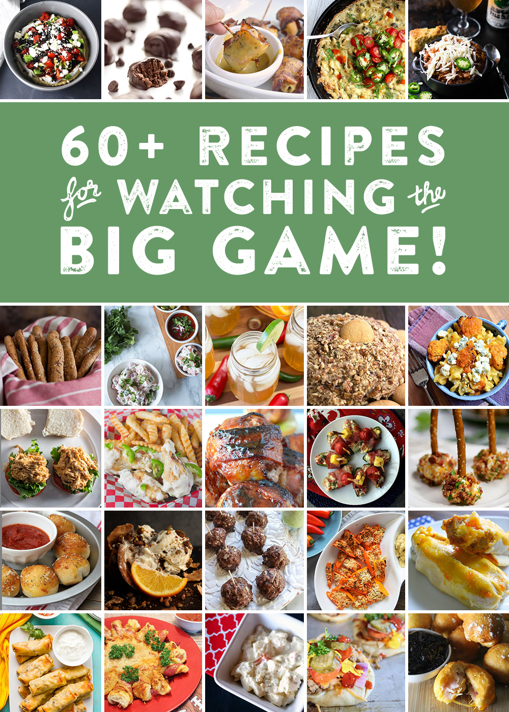 60 recipes for watching the big game