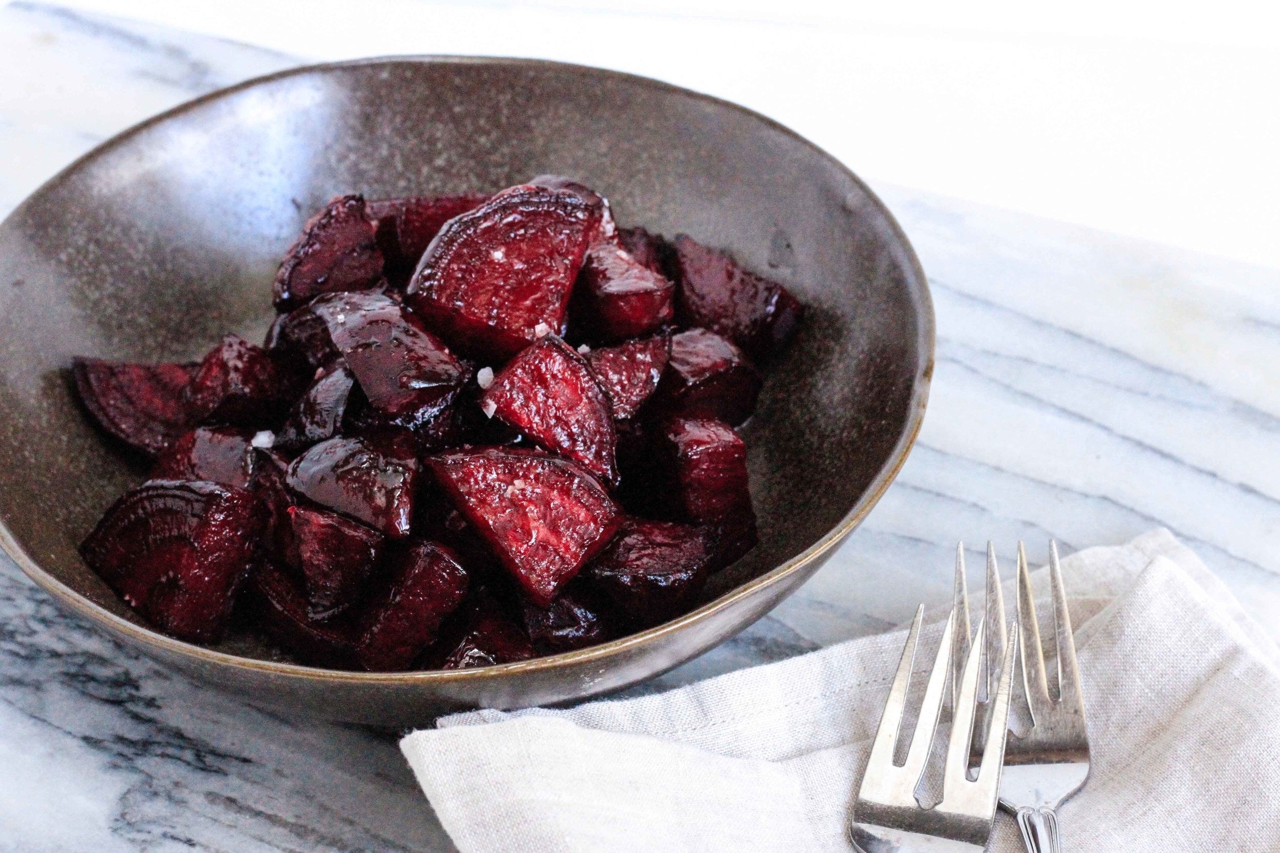 Green goddess roasted beets
