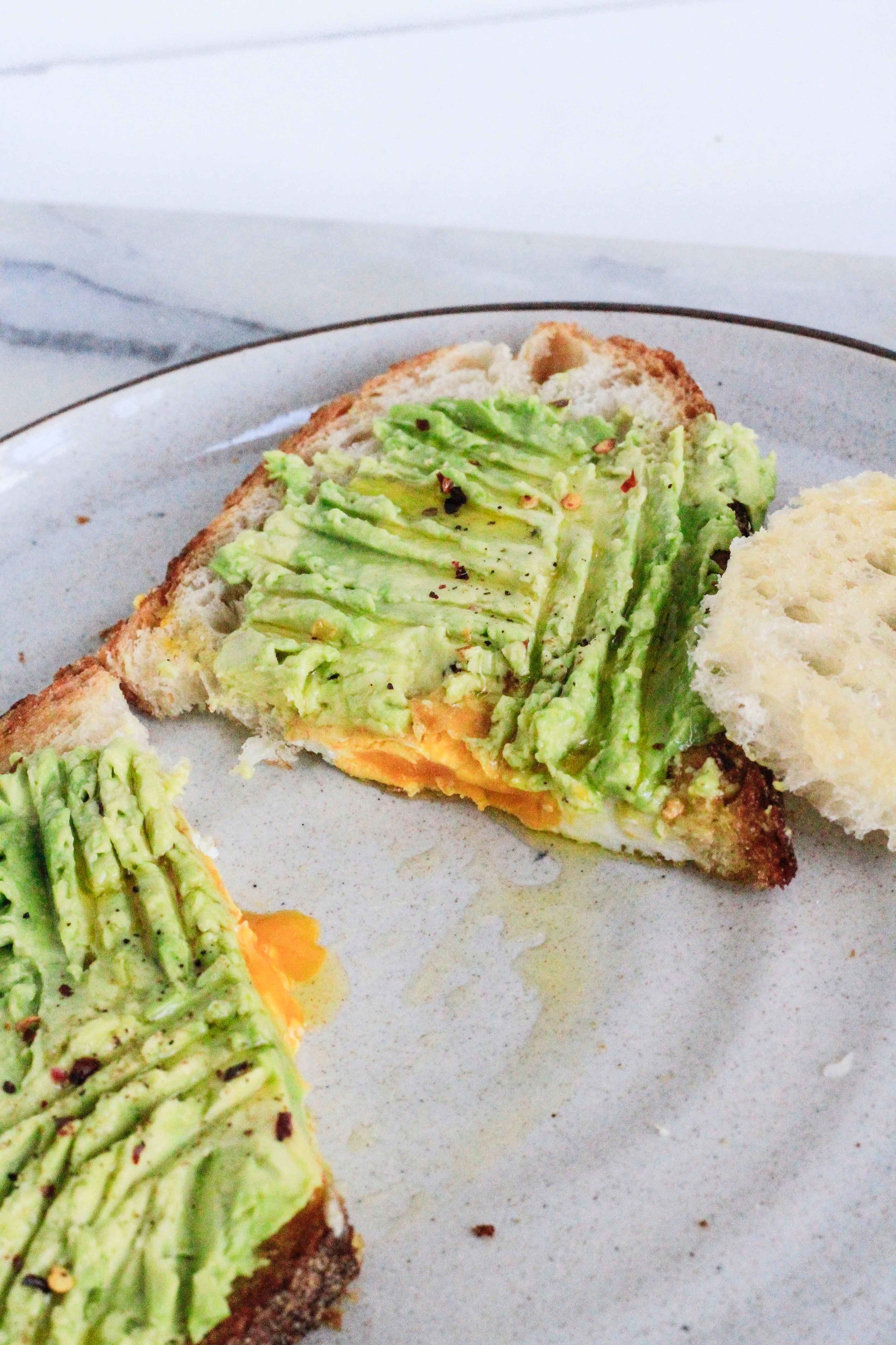 Egg in a hole avocado toast