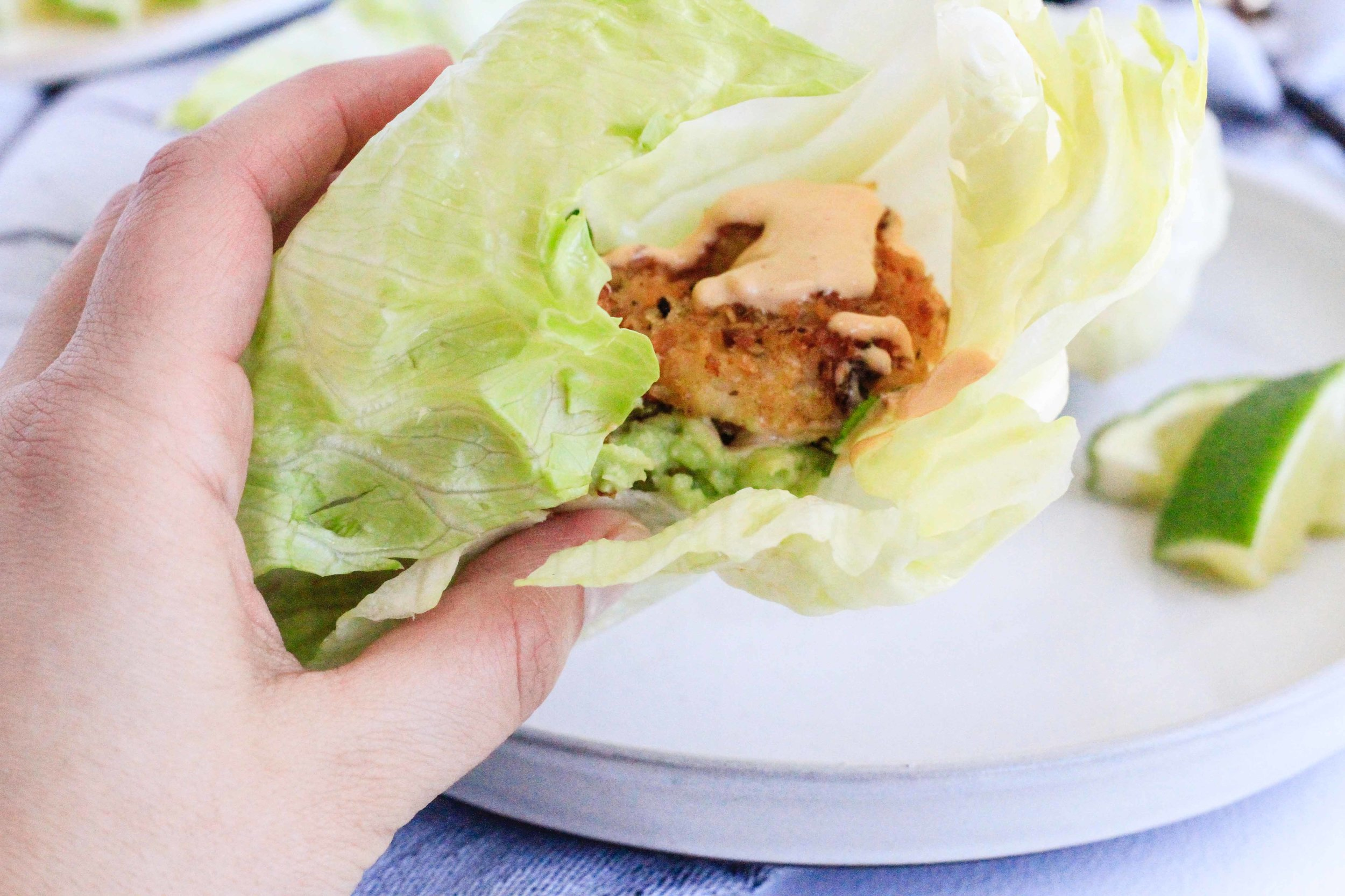 Coconut shrimp lettuce wraps