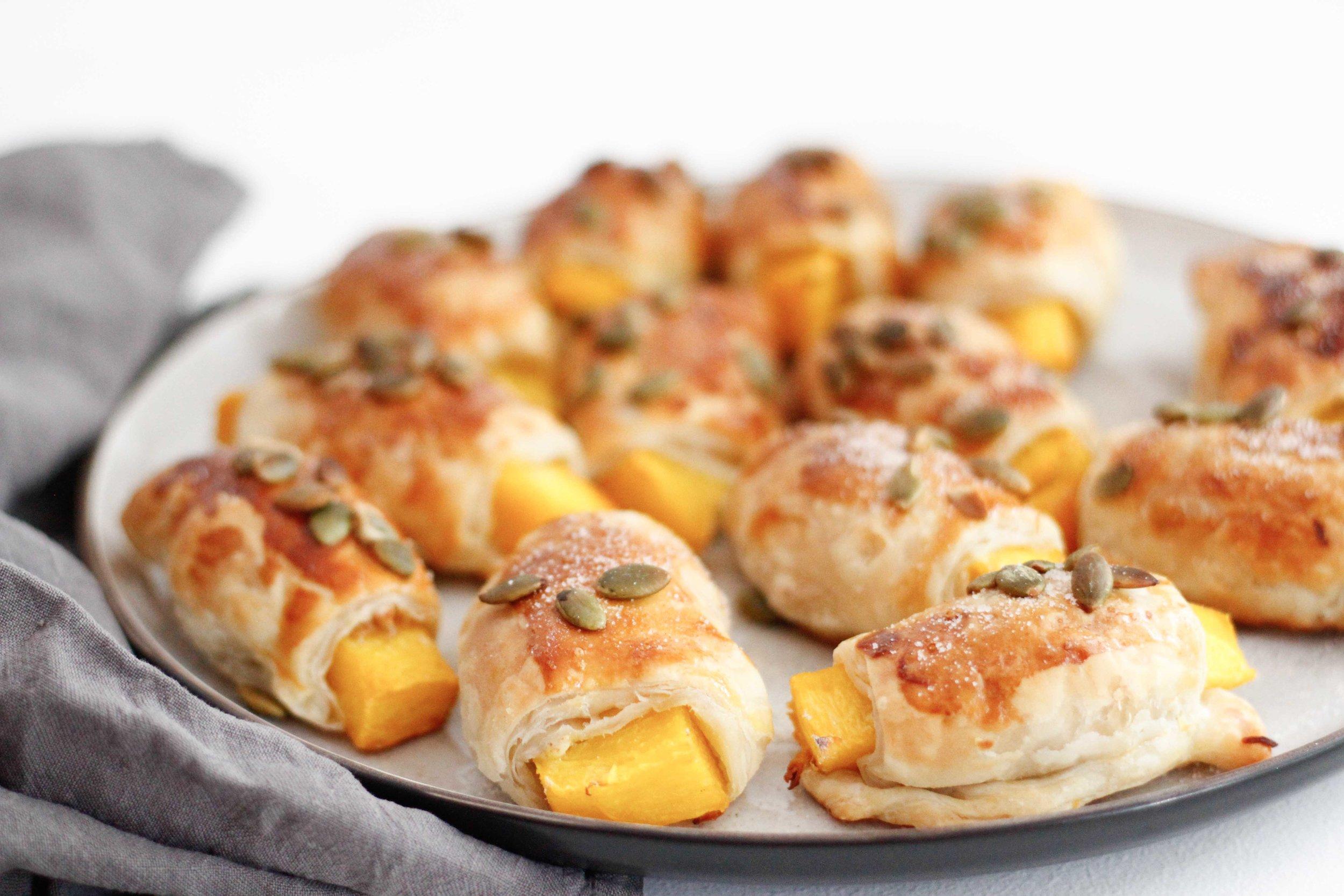 Pumpkin pastry puffs