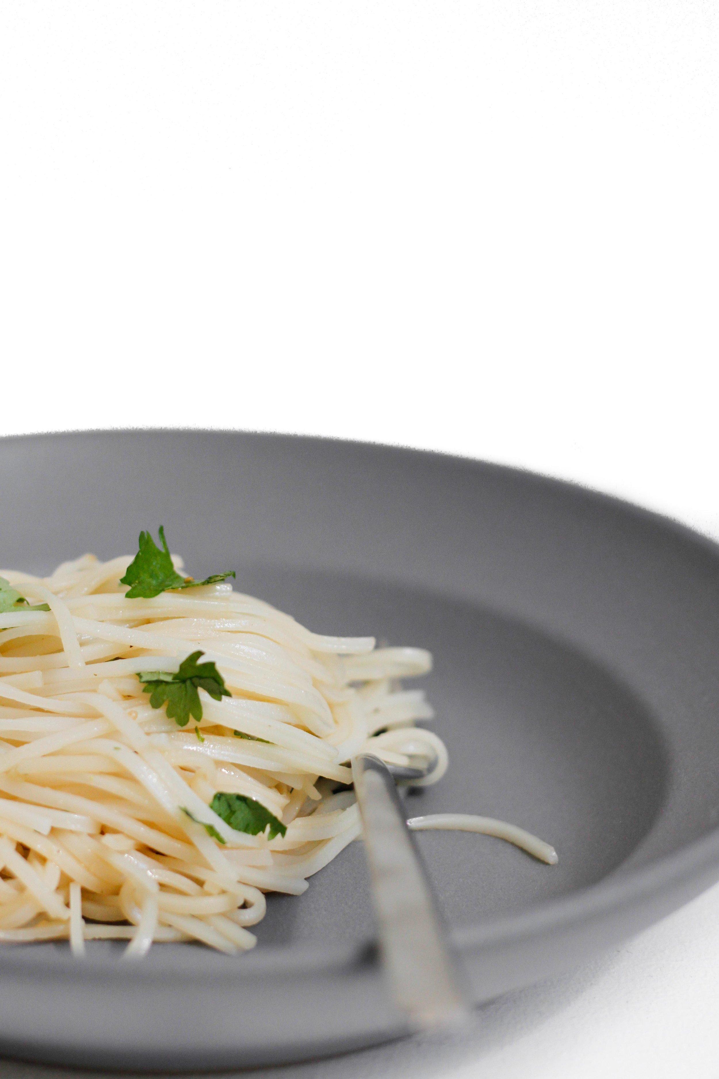 Cilantro and sesame rice noodles