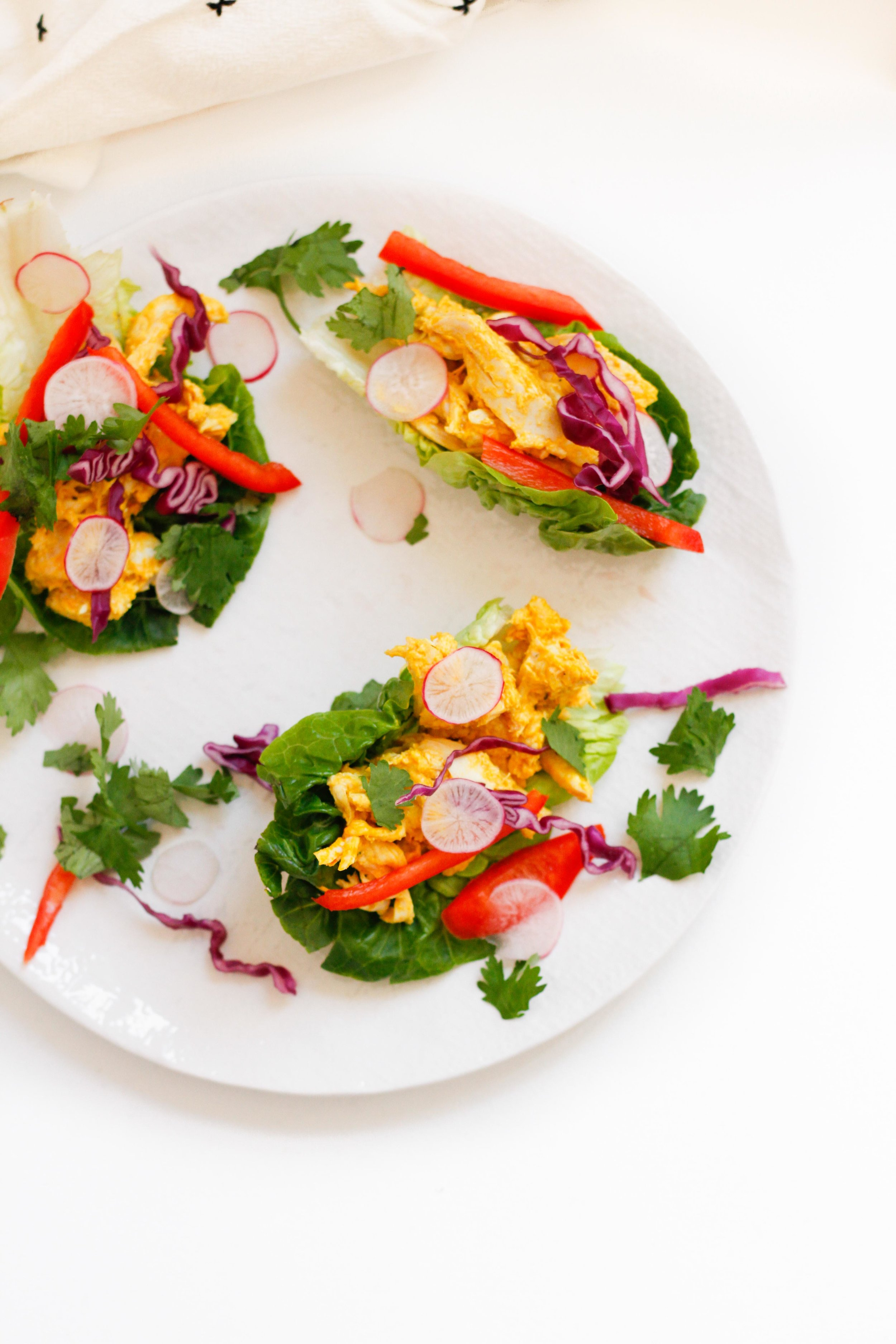 No-cook chicken salad wraps