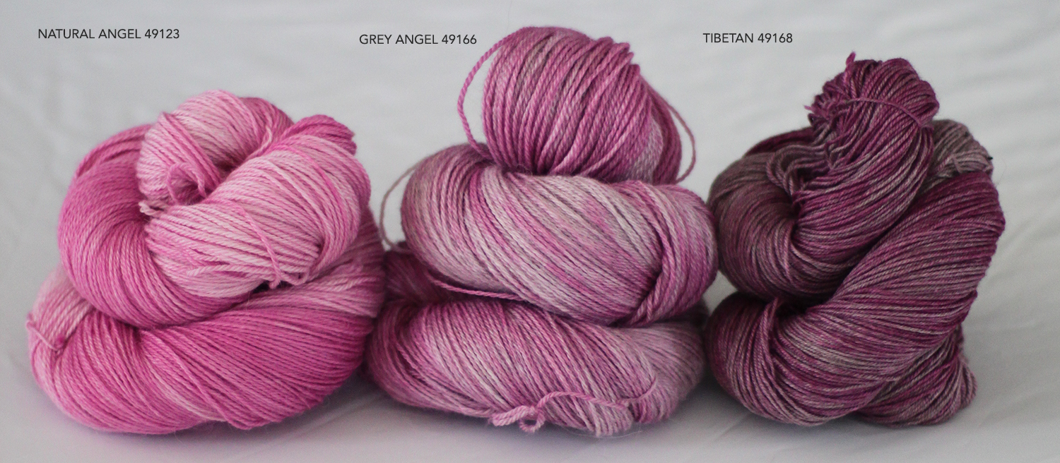 Angel and Tibetan Dyed pale pink