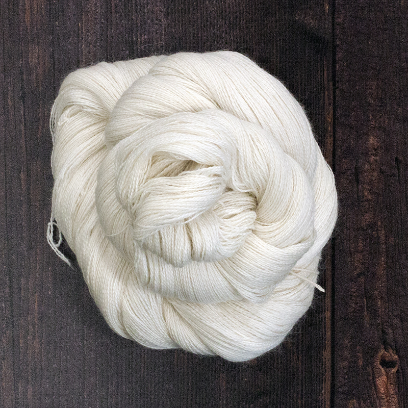 Type 49004   Suri Silk Lace 1200  50% Baby Suri Alpaca  30% Extra Fine Merino 20% Silk  100g Hanks  1200m per 100g 2/24nm
