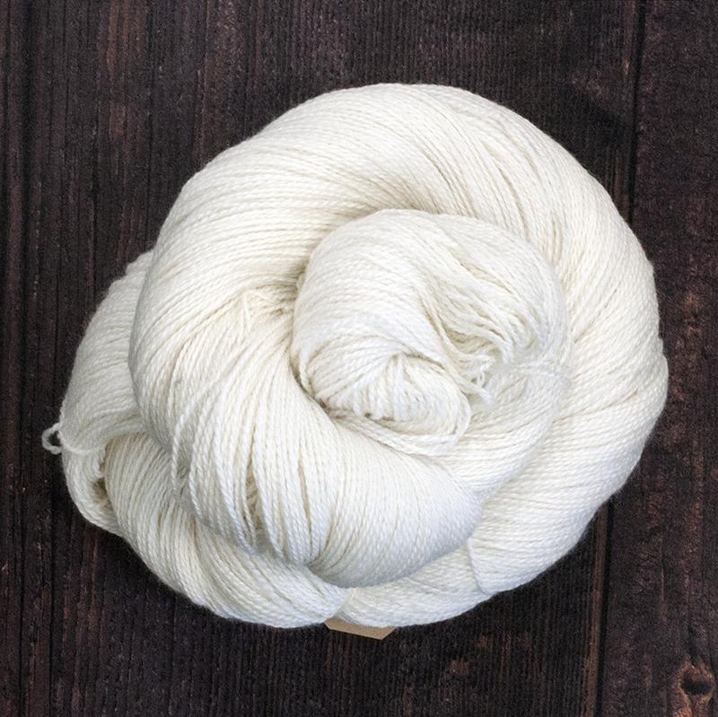 Type 49010  Baby Silk Lace 600  70% Baby Alpaca  30% Silk  100g Hanks 600m per 100g 2/12nm