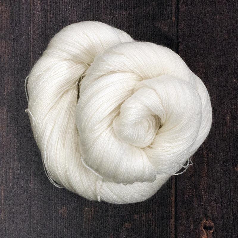 Type 49013   Bright Lace  50% Superwash Merino Wool 50% Tencel  100g Hanks  800m per 100g 2/16nm