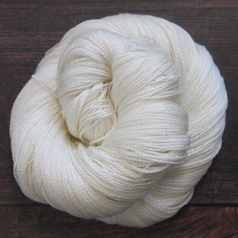 Type 49050  Silky Lace 50/50 600  50% Superwash Merino Wool 50% Silk  100g Hanks 600m per 100g 2/12nm