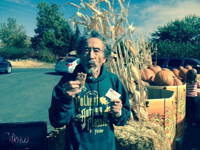 Tad from Spokane, WA after finishing the 2014 Colbert Autumn Classic Half Marathon in Colbert, WA....he set a personal best!