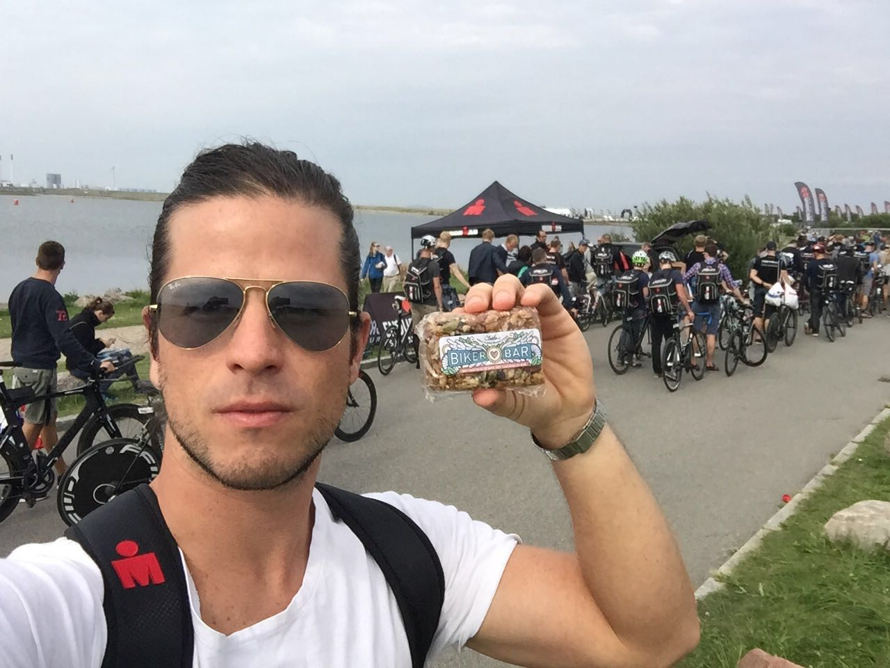 Dario from Houston sent these photos from Ironman Copenhagen. This was his first full-distance Ironman triathlon and he rocked it with an amazing time of 12:49!!! I am over-the-moon delighted that he chose the Biker Bar and Nuts and Bolts as part of his nutrition regimen during the race.