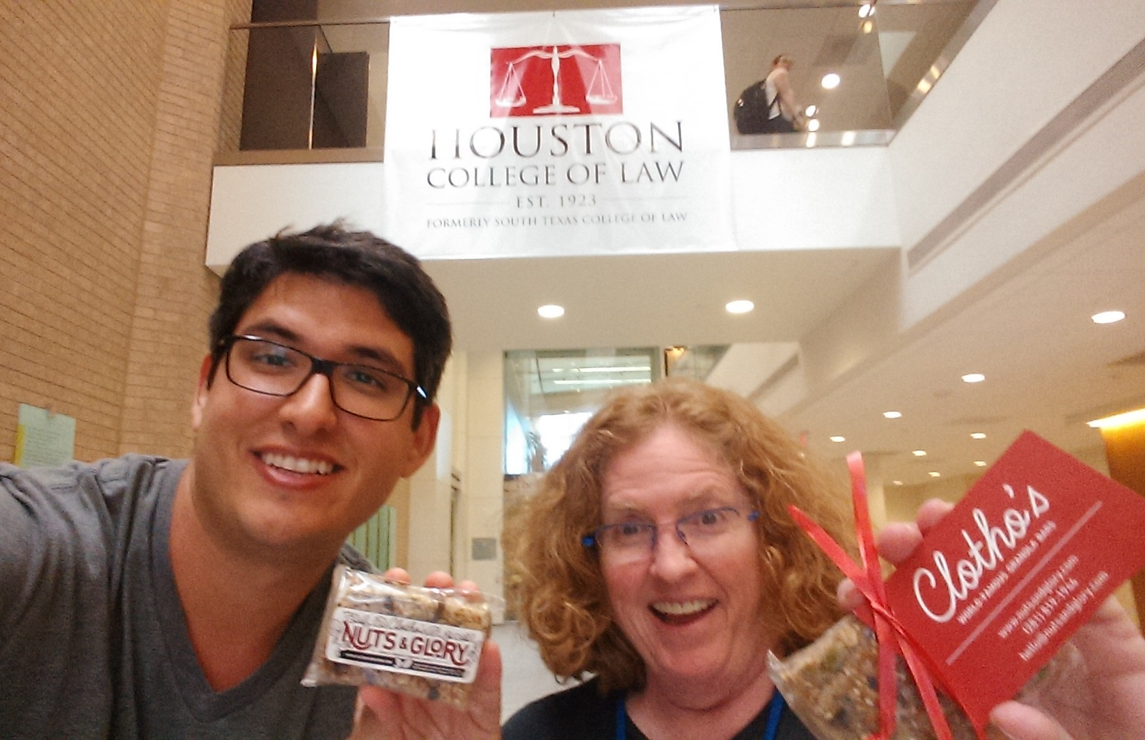 A big, big thank you to Jorge, Rebekah and the rest of the team at the South Texas College of Law trademark clinic for guiding me through the trademarking process. I'm really looking forward to working with you all over the next few months. So glad you enjoyed the granola bars!!