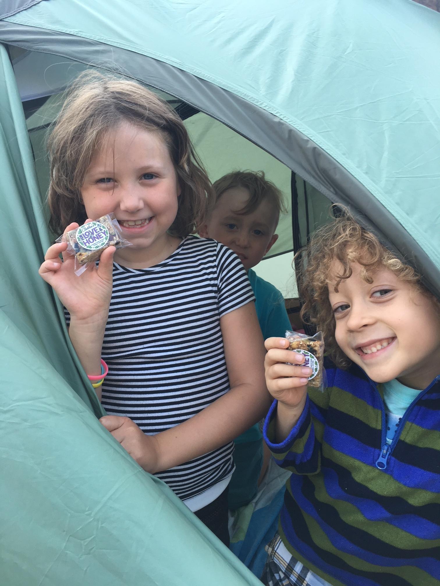 Kids +Camping+ Granola Bars = Happiness!