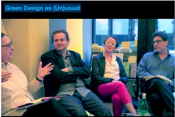 Panelist at David Bergman's book launch at the Van Alen Institute