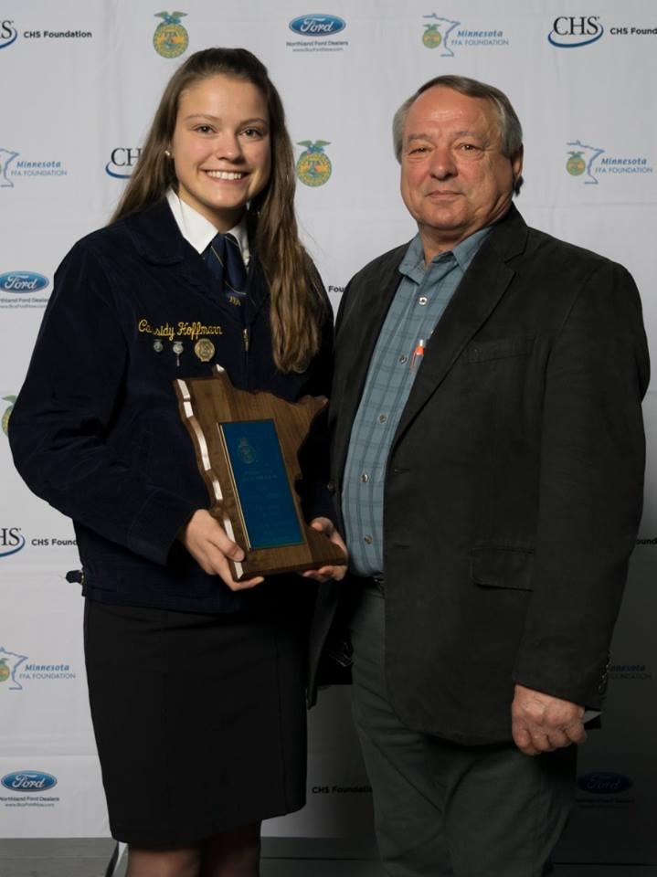 Agricultural Education    Cassidy Hoffman    Sleepy Eye    Sponsored by: The Jim Ertl Fund