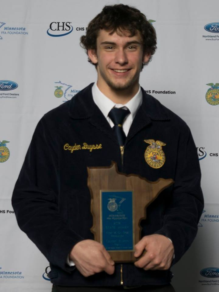 Fiber and Oil Crop Production    Cayden Buysse    Tracy    Sponsored by: Minnesota Soybean Council
