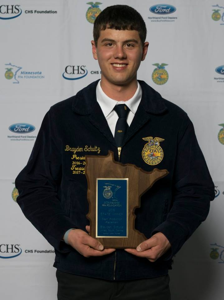 Grain Production Placement    Brayden Schultz    United South Central    Sponsored by: DuPont Pioneer