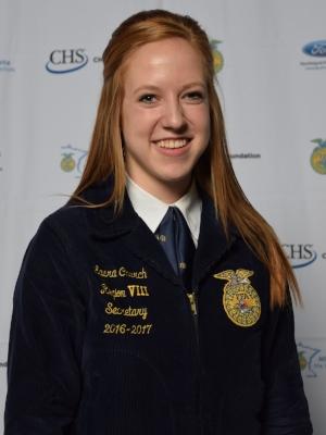 2018-19 State Secretary    Laura Church    Randolph FFA Chapter