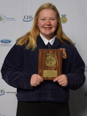 Milk Quality and Products    Breanna Winfield    Grand Meadow FFA Chapter    Sponsor: South Dakota State University Dairy and Food Science Department