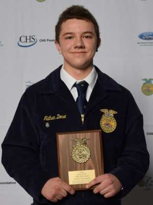 Poultry Evaluation    Nathan Dose    Jackson County Central FFA Chapter    Sponsor: Minnesota Turkey Research & Promotion Council
