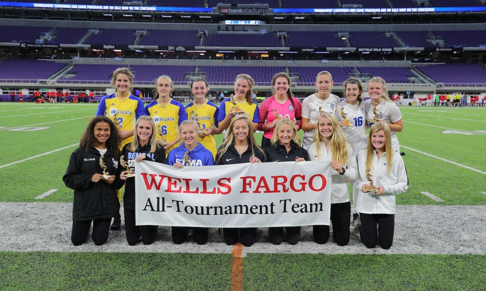 2018-19 Girls Class AA All-Tournament Team   Photo Credit:  MN Prep Photo