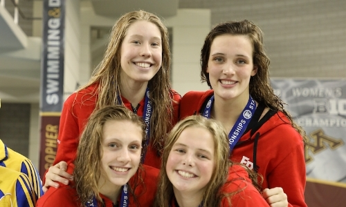 200 Medley Relay    Eden Prairie -  Chloe Skogg, Kylie Rydland, Grace Logue, Grace Witherspoon  Photo Courtesy Of:  MN Prep Photo