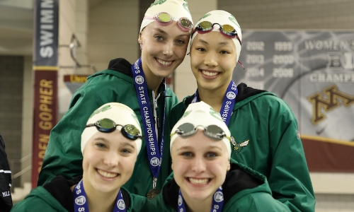 400 Freestyle Relay    Edina -  Brecken Merkel, Lily Gremmels, Claudia Chang, Nora Clarkowski  Photo Courtesy Of:  MN Prep Photo