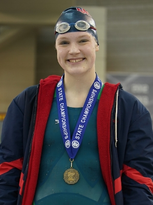 100 Breaststroke   Caroline Gardner   Orono   Photo Courtesy Of:  MN Prep Photo