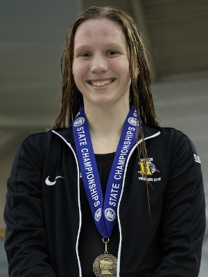 500 Freestyle   Hailey Farrell   Hutchinson   Photo Courtesy Of:  MN Prep Photo