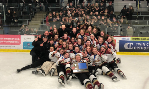 #4 Maple Grove | Section 5AA Champion    Roster  |  Schedule / Results  |  Website  |  Media Guide    Team Twitter  |  School Twitter  |  Students Twitter  |  Team FB  |  School FB  |  Instagram    Star Tribune Story   Quarterfinal result:  L, 4-7  vs. Minnetonka  Consolation Semifinal result:  W, 5-2  vs. East Ridge